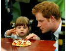 HRH Prince Harry with a Girl and her Handmade Pizza