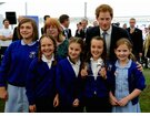 HRH Prince Harry and Primary School Children Winners