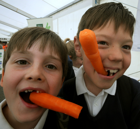 Eating Carrots!